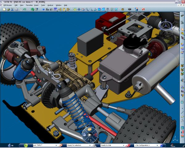 CATIA high capability of parts assembly and modifications on assembly and design for parts