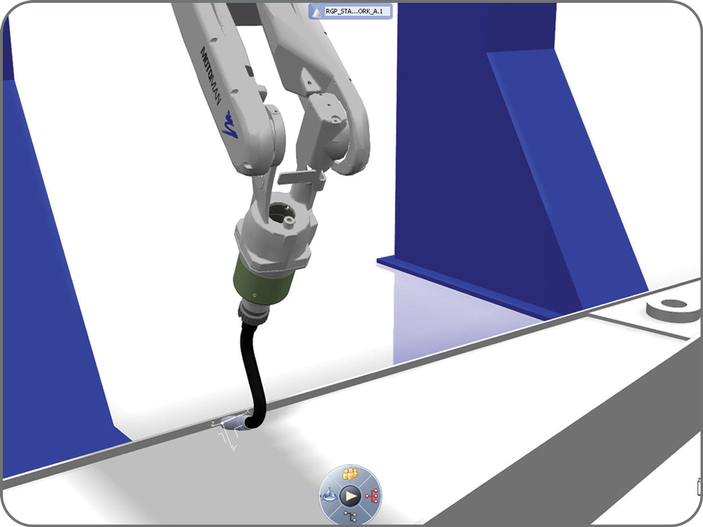 DELMIA high capability of welding process simulation