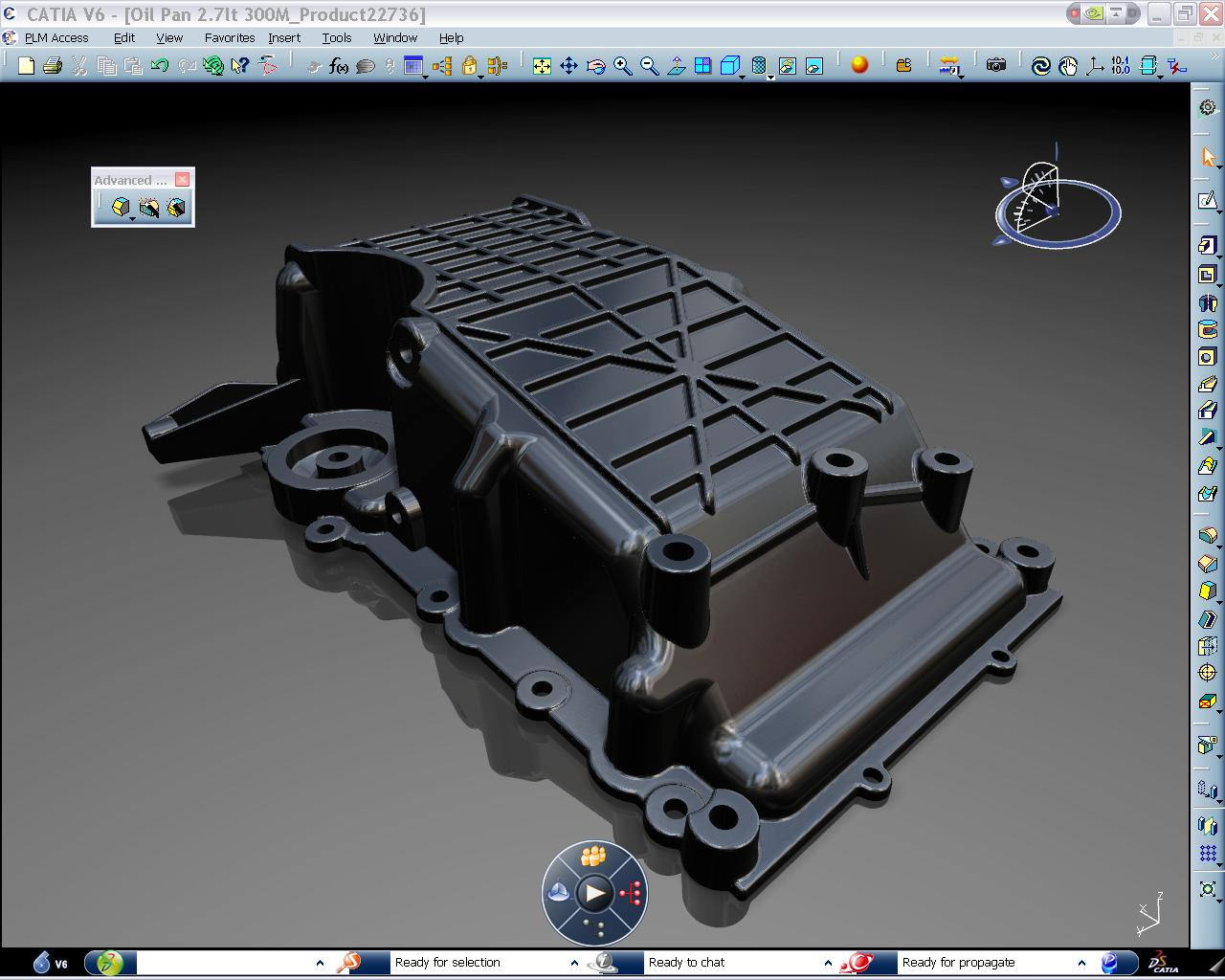 CATIA simulation mold and die for an oil pan