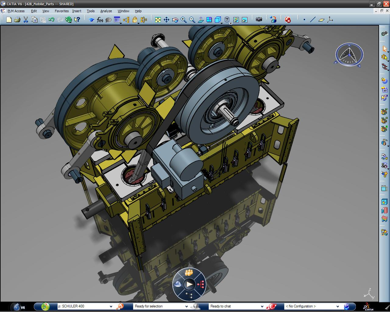 CATIA high capability of assembly to huge and complex parts and testing animations