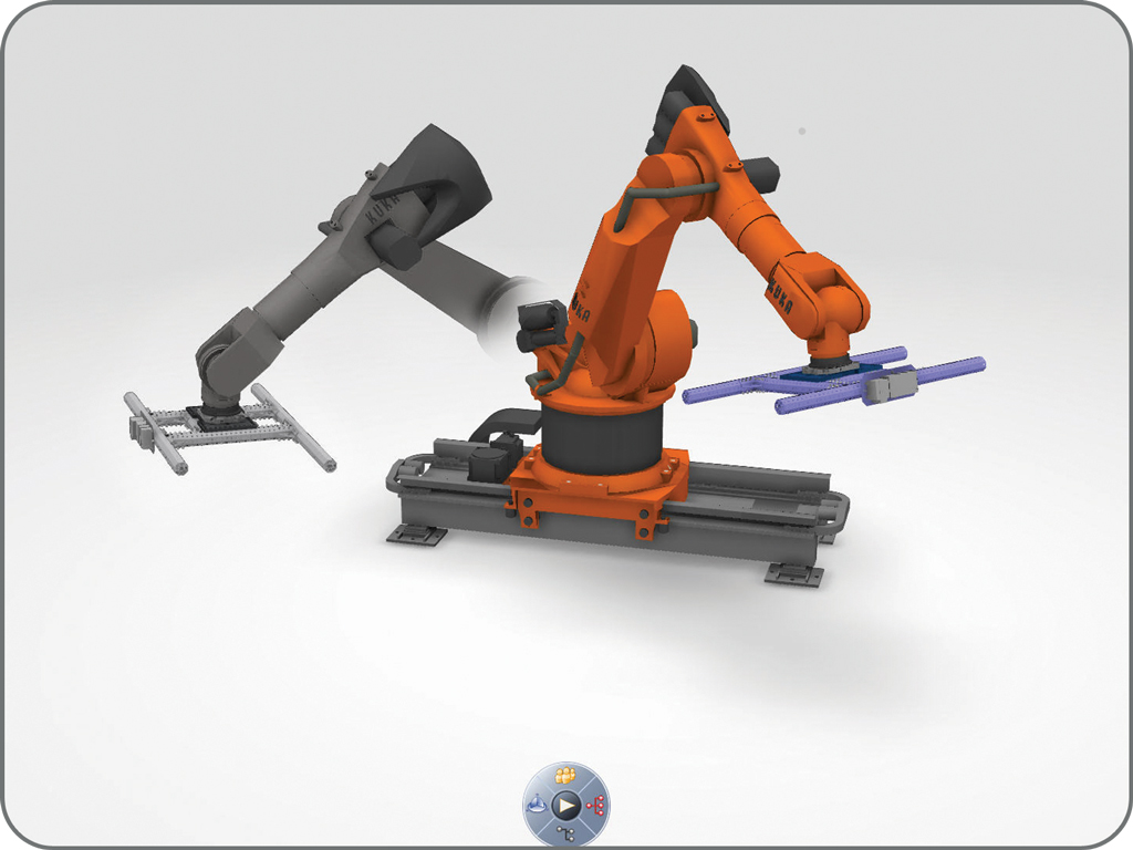DELMIA Coding robot arm verification and testing