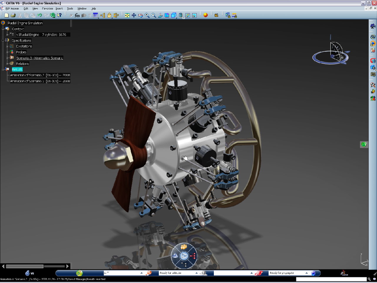 CATIA high capability of assembly design for engine and aerospace industry