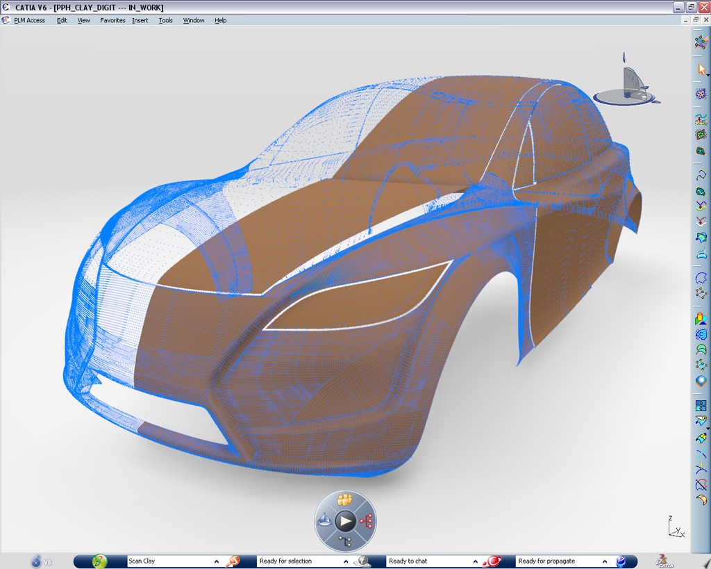 CATIA high capability of reverse engineering process