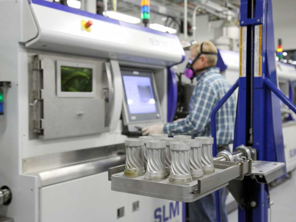 SLM solutions 280 2.0 3d printing in action