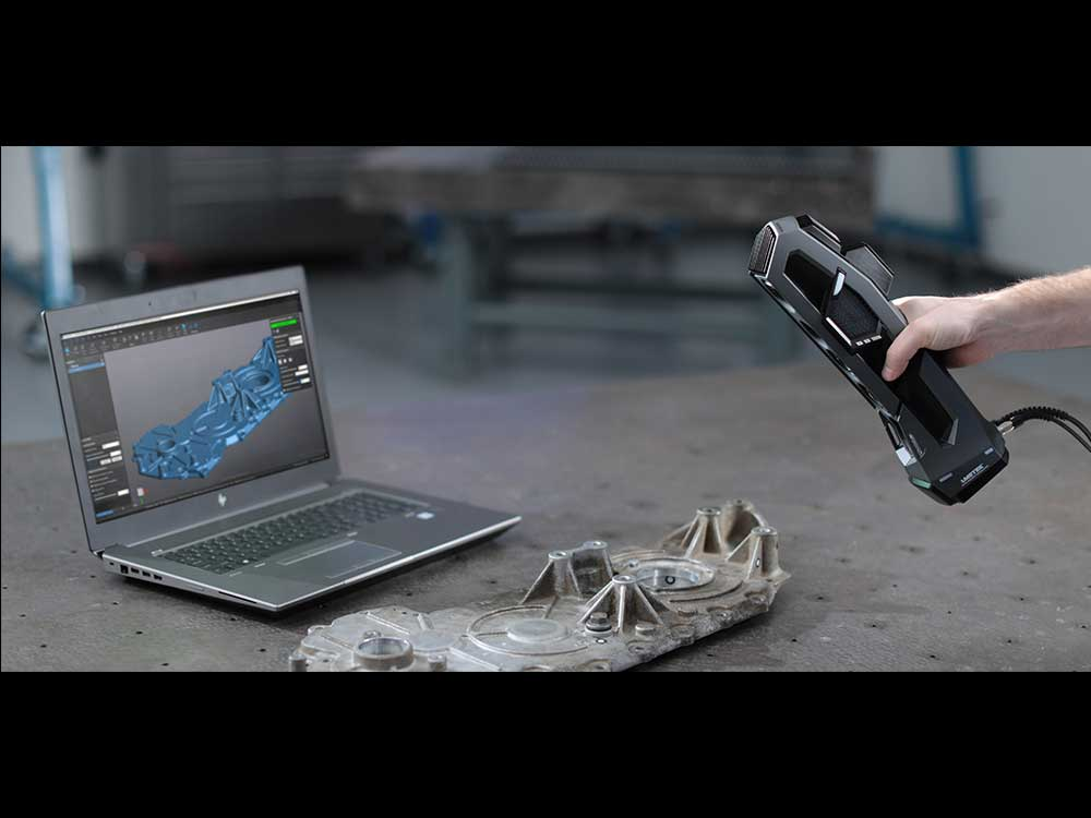 GO!SCAN 3D device high capability of ease and quick scanning of complex surfaces