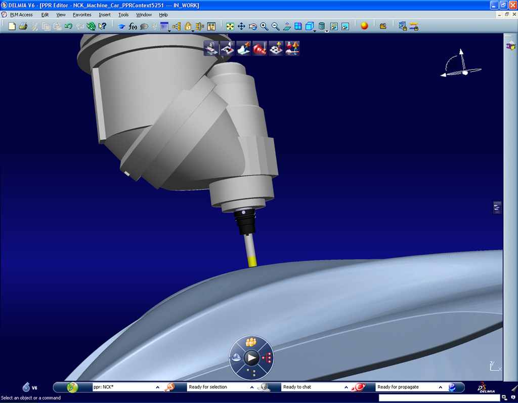 DELMIA manufacturing simulation for car automotive industry
