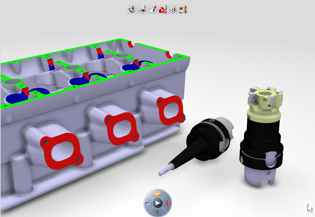 DELMIA tool management and manufacturing simulation and tool selection
