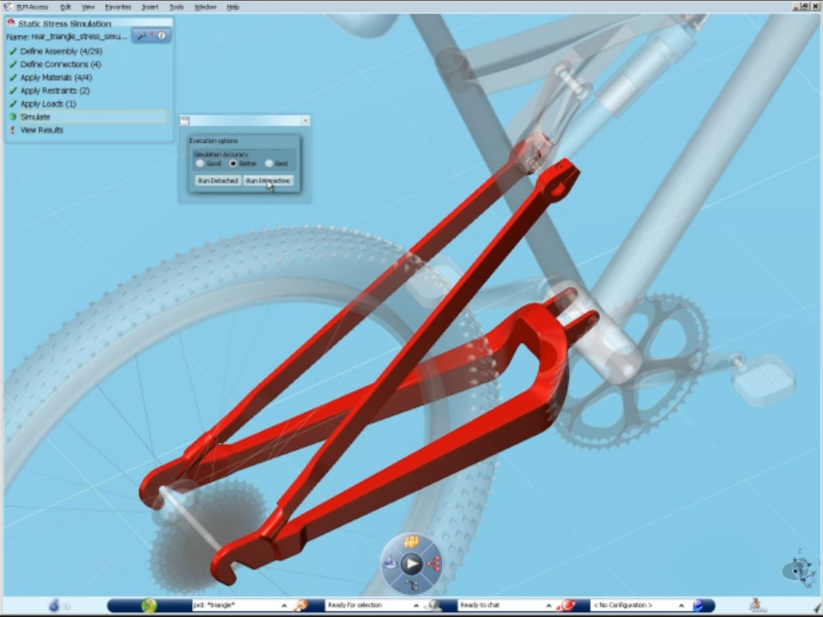 SIMULIA structure analysis of bicycle